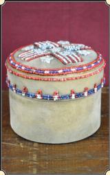 Native American Round beaded box