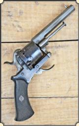 Lefaucheux Pin Fire Revolver with folding trigger