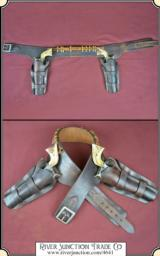 Rare Herman H. Heiser Double gun holster rig for a pair of 7 1/2 inch Colt SAA