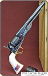 1860 Army .44 cal Revolver - Blued finish Made by Pietta, with extra cylinder.