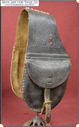 Vintage Leather Saddlebags saddlepockets