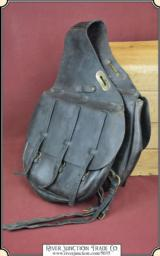 1918 US Cavalry Leather Saddlebags Antique