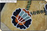 Framed Beaded Buckskin brain tanned Gauntlet Gloves - 6 of 15