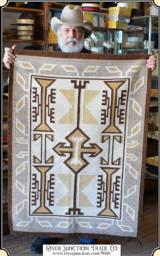 Two Grey Hills Navajo Rug Blanket - 1 of 14