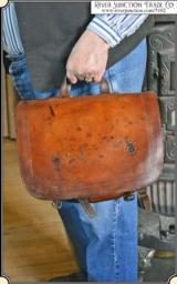 Antique Old West Doctor Leather Saddlebags