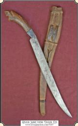 Original WWII~FAR EAST/FILIPINO~TALIBON FIGHTING KNIFE SCABBARD