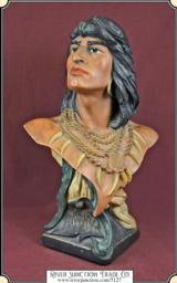 """Original antique """"Hiawatha"""" bust"""