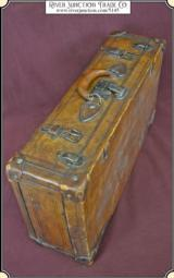 Vintage Big Leather Suitcase or Luggage