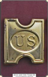 "Original Spanish American war Buckle - 3"" US Military buckle for web belt"