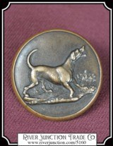 "Antique Victorian Brass Hunting Sports Button: by ""Treble Stand'd Extra Rich"" England ca. 1850"