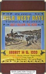 Viroqua Wild West Show 1999 Print 21 x 24