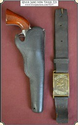 An Original antique Gold Rush and Civil War holster and belt with provenance for 1851 Colt Navy.