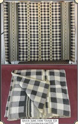 Tan and Gray Plaid Horse Blanket 1of 2