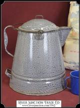 Coffee Pot - Grey Enamel One Gallon