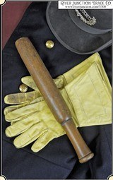 RARE: 1860 era Civil War Provost Marshal's Billy Club. Natural hardwood color billy club, handle turned to form grip area. Dimensions: 14 1/2 inch