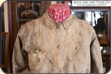 Original Indian tanned Frontiersman's Shield Front Shirt. Museum Quality - 4 of 14