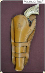 Left Hand Holster - Mexican Double Loop Holster Copied from original in the River Junction Collection