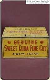 Tobacco Advertising Tin Store Display Box