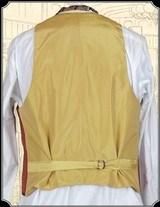 Vest - All Silk Round Lapel Cranberry Red Vest Heirloom Brand RJT#5374 - $209.95 - 3 of 3
