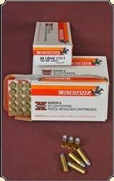 Winchester Super X 38 Long Colt 50 Rd. boxRJT#5287 -$49.95