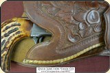 Hand tooled Vintage Montana Holster - 5 of 12