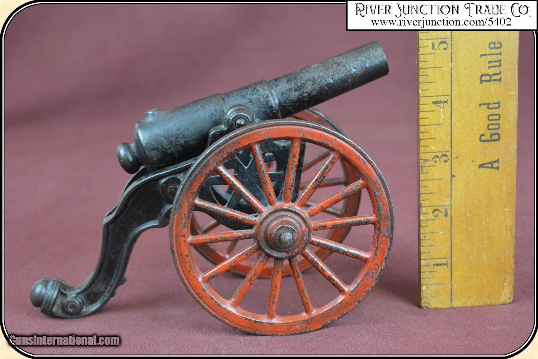 Antique Old US Copper Cast Iron Black Powder Signal Cannon for sale
