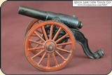 Antique Old US Copper Cast Iron Black Powder Signal Cannon - 3 of 14