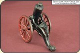 Antique Old US Copper Cast Iron Black Powder Signal Cannon - 9 of 14