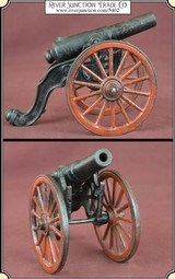 Antique Old US Copper Cast Iron Black Powder Signal Cannon - 1 of 14