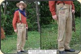 Original 1880 Hand-sewn ELK Hide Trousers with beaded pockets - 3 of 11