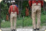 Original 1880 Hand-sewn ELK Hide Trousers with beaded pockets - 4 of 11