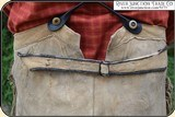 Original 1880 Hand-sewn ELK Hide Trousers with beaded pockets - 5 of 11