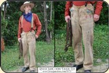 Original 1880 Hand-sewn ELK Hide Trousers with beaded pockets - 2 of 11