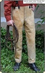 Antique 1860 ELK Hide Trousers