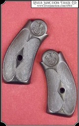 Hard rubber grips for S&W New Model No. 3 SINGLE ACTION and all the reproductions.