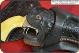 """Double gun holster rig for a pair of 5 1/2"""" or 4 3/4"""" inch Colt SAA - 6 of 12"""