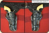 """Double gun holster rig for a pair of 5 1/2"""" or 4 3/4"""" inch Colt SAA - 3 of 12"""