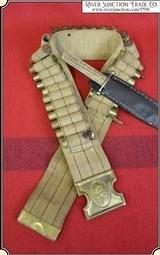 Original Mills 12 Gauge Shot Gun Web Belt - With Buckle
