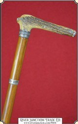 Stag Handled Walking Cane - 1 of 9