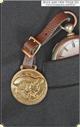 Antique Original Buffalo Bill & Pawnee Bill Watch Fob