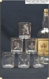 6 Historic Saloon Shot Glasses - 1 of 7