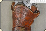 Crafter made left hand holster for Colt Single Action 4 3/4 or 5 1/2 inch barrel - 5 of 9