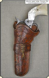 Crafter made left hand holster for Colt Single Action 4 3/4 or 5 1/2 inch barrel - 1 of 9
