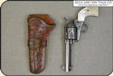 Crafter made left hand holster for Colt Single Action 4 3/4 or 5 1/2 inch barrel - 3 of 9