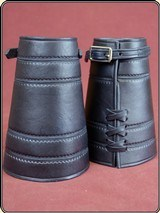 Cowboy Riding Roping Cuffs - Black - Border Stamped RJT#5066 - $79.9