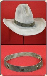 Hatband - Leather Hat Band Hand-crafted ~ Made Exclusively by RJT Co. RJT#5546 - $89.95 - 1 of 5