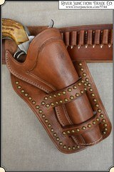 Cross Draw - Cheyenne Holster with brass spots for 4 3/4 - 5 1/2 inch barrel