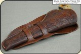 Hand tooled Holster - Mexican Double Loop Holster Copied from original in the River Junction Collection - 8 of 10