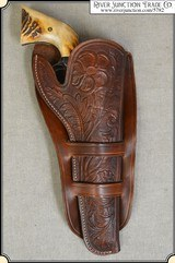 Hand tooled Holster - Mexican Double Loop Holster Copied from original in the River Junction Collection - 1 of 10