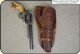 Hand tooled Holster - Mexican Double Loop Holster Copied from original in the River Junction Collection - 3 of 10